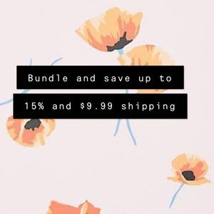 Bundle and save up to 15% and $9.99 shipping!